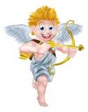 Ángel de la historieta del cupido Foto de archivo libre de regalías