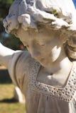 Ángel de la lápida mortuoria imagen de archivo