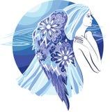 Ángel de la mujer ilustración del vector