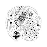 Ángel de la Navidad ilustración del vector