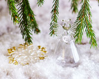Ángel de la Navidad Foto de archivo libre de regalías