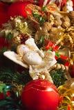 Ángel de la Navidad con el corazón Foto de archivo libre de regalías