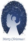 Ángel de la Navidad con una vela Fotografía de archivo libre de regalías