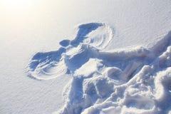 Ángel de la nieve Fotografía de archivo libre de regalías