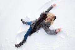 Ángel de la nieve Foto de archivo