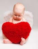 Ángel de la tarjeta del día de San Valentín Foto de archivo libre de regalías