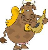 Ángel de la vaca stock de ilustración