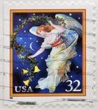 Ángel de medianoche, día de fiesta Imagenes de archivo