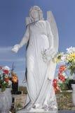 Ángel de piedra blanco Imagenes de archivo