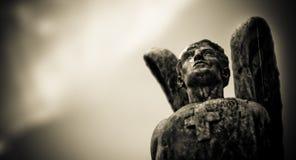 Ángel de piedra resistido Fotografía de archivo libre de regalías