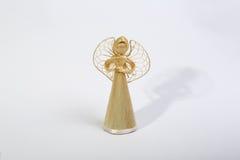 Ángel de Straw Christmas Foto de archivo libre de regalías