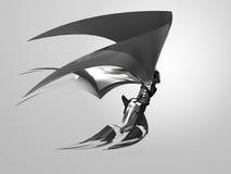Ángel del cyborg del vuelo/estatua del ángel Fotografía de archivo libre de regalías