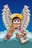 Ángel del dinero malévolo ilustración del vector