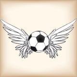 Ángel del fútbol stock de ilustración