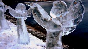 Ángel del hielo Imágenes de archivo libres de regalías