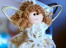 Ángel del juguete Foto de archivo