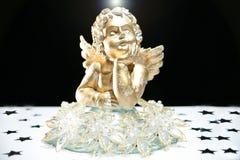 Ángel del oro con halo fotografía de archivo libre de regalías