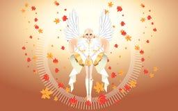 Ángel del papel pintado de la caída Imagenes de archivo