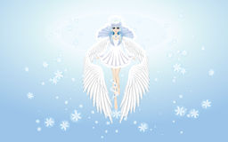 Ángel del papel pintado del invierno Imagen de archivo libre de regalías