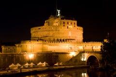 Ángel del santo del castillo en Roma, Italia Imagen de archivo libre de regalías