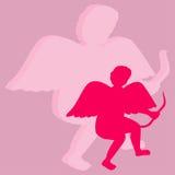 Ángel el día de tarjetas del día de San Valentín Imagen de archivo