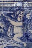 Ángel en azulejos en el palacio de Sintra Fotos de archivo libres de regalías