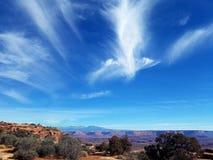 Ángel en Canyonland Imagen de archivo libre de regalías