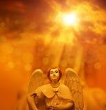 Ángel en cielo fotografía de archivo