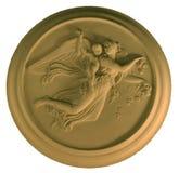 Ángel en el yeso, aislado Fotografía de archivo libre de regalías