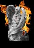 Ángel en fuego fotos de archivo