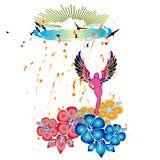 Ángel en lluvia asoleada Imagen de archivo