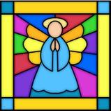 Ángel en vidrio manchado ilustración del vector