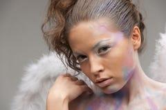 Ángel encantador con maquillaje Fotos de archivo