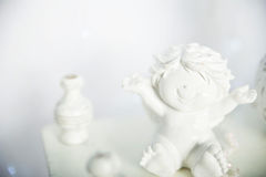 Ángel feliz Juguete de cerámica Imagenes de archivo
