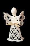 Ángel hecho del cordón aislado Imágenes de archivo libres de regalías