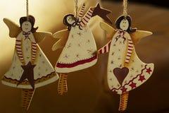 Ángel hecho a mano del juguete de la decoración de la Navidad Juguetes del árbol de navidad, Imagen de archivo