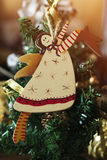Ángel hecho a mano del juguete de la decoración de la Navidad Juguetes del árbol de navidad, Fotografía de archivo libre de regalías