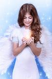 Ángel lindo de la Navidad Foto de archivo libre de regalías