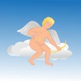 Ángel lindo en una nube Imágenes de archivo libres de regalías