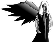 Ángel negro libre illustration