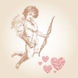Ángel o vector del ejemplo del cupido Imágenes de archivo libres de regalías