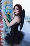 Ángel oscuro caido Fotos de archivo