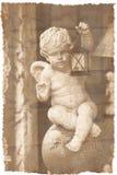 Ángel que desea la tarjeta Imagen de archivo