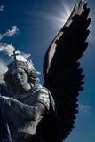 Ángel que se venga backlightning Foto de archivo libre de regalías