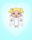 Ángel que trae amor stock de ilustración
