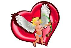 Ángel y corazón Fotos de archivo libres de regalías