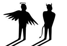 Ángel y diablo ilustración del vector