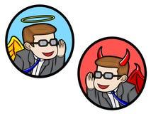 Ángel y diablo Fotografía de archivo