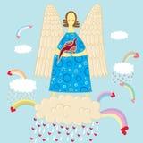 ángel y Dino Imagen de archivo libre de regalías
