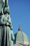 Ángel y oratorio de San José Foto de archivo